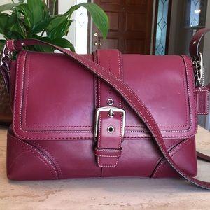 🌹COACH Hampton Burgundy Shoulder Bag Crossbody!